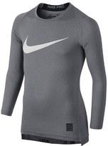 Nike 'Pro Combat Hypercool Compression HBR' Long Sleeve T-Shirt (Little Boys & Big Boys)