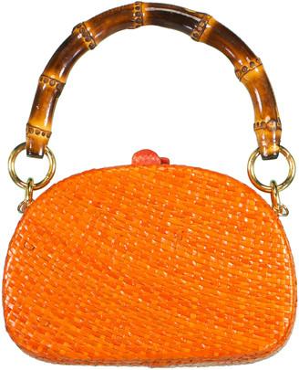 Serpui Marie Orange Anne RM Straw Bag