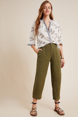 Anthropologie Audra Utility Pants By in Green Size 25