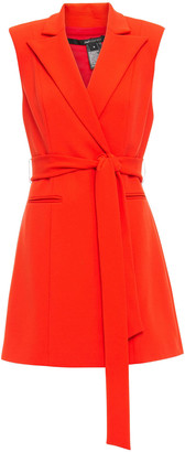 Jay Godfrey Belted Stretch-crepe Mini Dress
