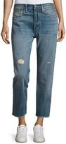 Vince Union Distressed Slouchy Jeans, Blue