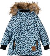 Mini Rodini Light Blue Leopard Print Padded Coat