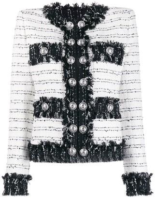 Balmain Buttoned Tweed Jacket