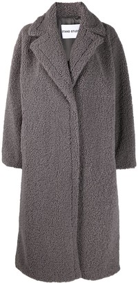Stand Studio Oversized Long Teddy Coat