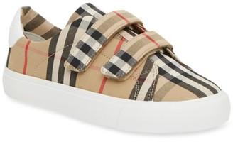Burberry Kid's Mini Markham Check Sneakers