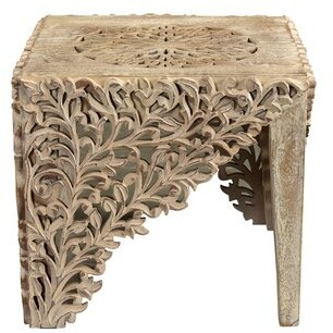 Thumbnail for your product : World Menagerie Gerdie Carved End Table