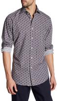 Thomas Dean Printed Long Sleeve Shirt