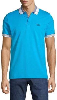 HUGO BOSS Logo Slim-Fit Cotton Polo