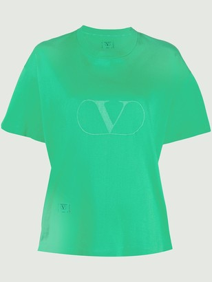 Valentino Pre Owned 1990's logo print T-shirt
