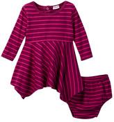 Splendid Striped Dress & Bloomer Set (Baby Girls)