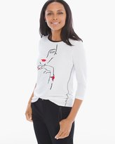 Chico's Bailey Graphic Icon Tee
