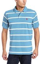 U.S. Polo Assn. Men's Short Sleeve Striped Pique Polo