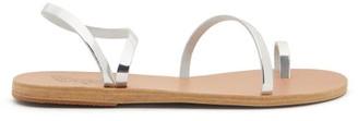 Ancient Greek Sandals Apli Eleftheria Leather Sandals - Silver