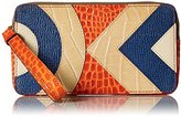Orla Kiely Croc Applique Leather Large Zip Pouch Wallet