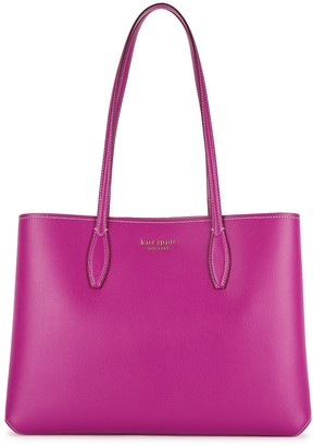 Kate Spade All Day Large Purple Leather Tote