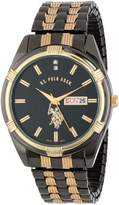 U.S. Polo Assn. Men's Gun-Metal Day-Date Dial Dress Watch USC80047