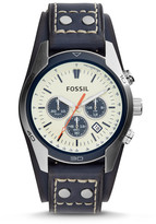 Fossil Coachman Chronograph Blue Leather Watch