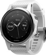 Garmin Unisex fenix 5S White Silicone Strap Gps Touch Screen Smart Watch 42mm 010-01685-00