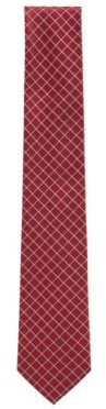 HUGO BOSS Italian Made Tie In Pure Silk Jacquard - Open Red