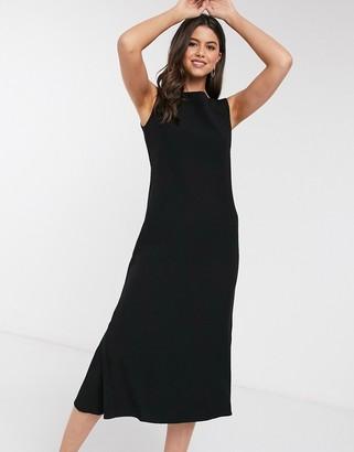 Closet London Closet fit and flare midi dress in black