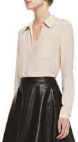 Diane von Furstenberg Lorelei Long-Sleeve Silk Blouse