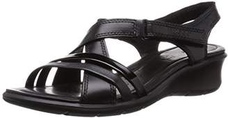Ecco Felicia, Women's Wedge Heel Sandals, Black - Schwarz (BLACK/BLACK51707), 6.5 - 7 UK (40 EU)