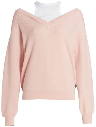 Alexander Wang Bi-Layer Merino Wool Sweater