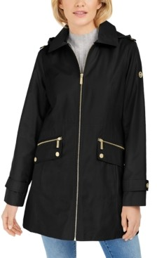Michael Kors Michael Hooded Water-Resistant Raincoat