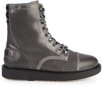 Diesel D-Cage Leather Combat Boots