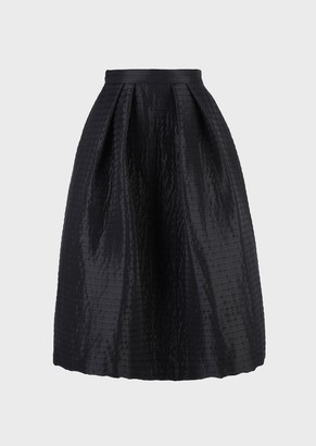 Emporio Armani Full Skirt With Quilted Topstitching