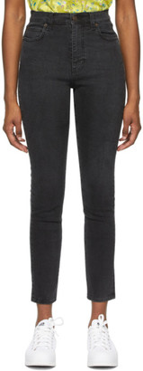 6397 Black Faded High Jeans
