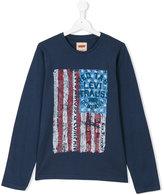 Levi's Kids - flag print sweatshirt - kids - Cotton - 14 yrs