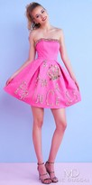 Mac Duggal Dazzling Princess Embellished Strapless Homecoming Dress