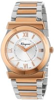 "Salvatore Ferragamo Men's FI0010013 ""Vega"" Gold Ion-Plated and Stainless Steel Two-Tone Watch"
