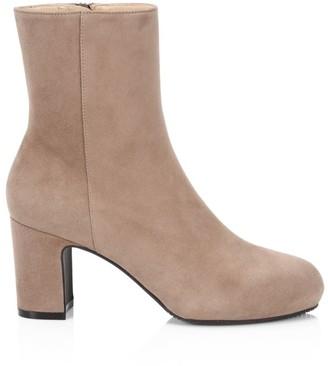 Stuart Weitzman Gianella Suede Ankle Boots
