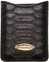 Sergio Rossi Unisex Leather Travel Mirror -Black