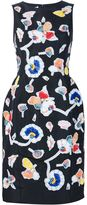 Oscar de la Renta embroidered peg dress - women - Silk - 4