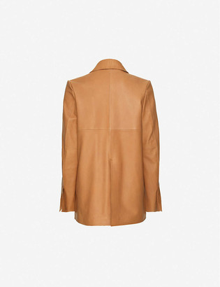 Taiga Takahashi Emsley single-breasted leather blazer