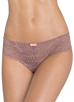 Triumph Spotlight Amourette Lace Thong, Brown Light Combination