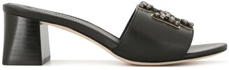 Tory Burch Embellished Block-Heel Sandals
