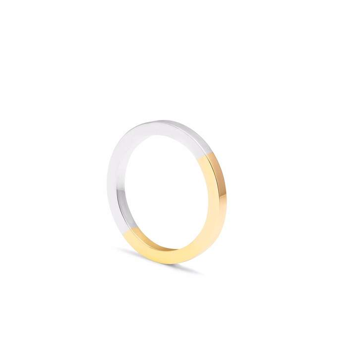 Myia Bonner 9ct Yellow Gold & Silver Square Band
