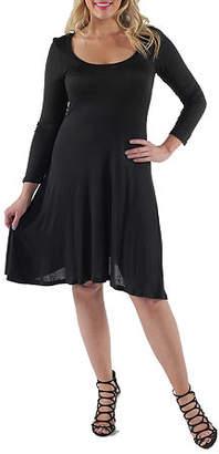 24/7 Comfort Apparel Plus Casual Fit & Flare Dress