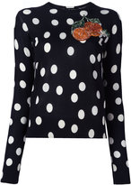 Dolce & Gabbana orange patch jumper - women - Silk - 42
