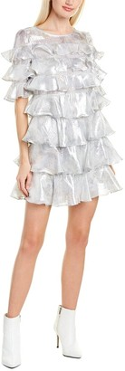 Rebecca Taylor Lily Ruffle Silk-Blend Mini Dress