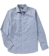 Murano Slim Long Sleeve Spread Collar Horizontal Stripe Woven Shirt
