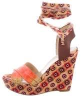 Theodora & Callum Theodora Callum Printed Wedge Sandals