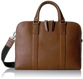 Fossil Mayfair Leather Double Zip Work Messenger Bag