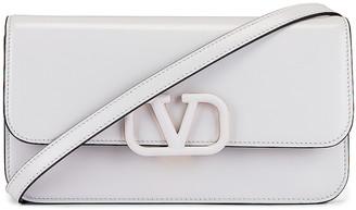 Valentino Vsling Clutch in Bianco Ottico | FWRD