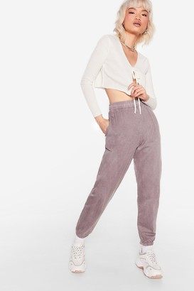 Nasty Gal Womens Run With It Petite High-Waisted Joggers - Brown - 6