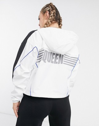 Puma Queen track jacket in white